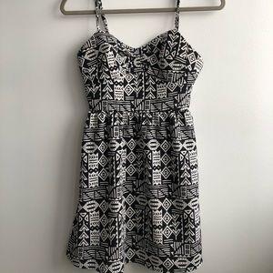 Forever 21 Black/White Aztec Pattern Sundress